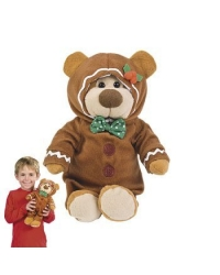 Image of 6 x Plush George The Gingerbread Bear 30cm