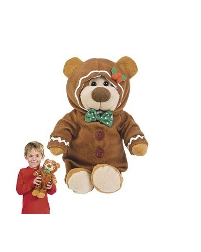 6 x Plush George The Gingerbread Bear 30cm