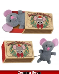 Image of 12 x Plush Christmas Mouse In Matchbox