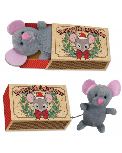 12 x Plush Christmas Mouse In Matchbox