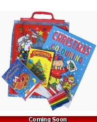 Image of Wrapped Grotto Toys - Christmas Activity Book Packs x 20