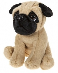 12 x Plush Pug Puppy Dogs 16cm