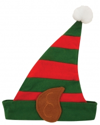 12 x Plush Christmas Elf Hats With Ears