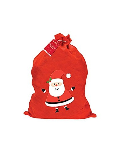 24 x Fabric Christmas Santa Sacks