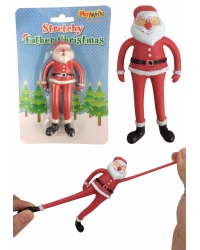 12 x Stretchy Father Christmas Toys