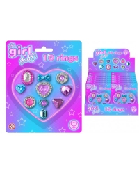 12 x Girls Ring Sets 10 pk