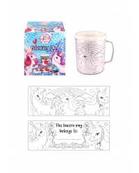 12 x Colour In Unicorn Mugs