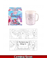 Image of 12 x Colour In Unicorn Mugs
