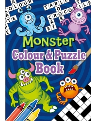 Image of 24 x Monster A6 Colour & Puzzle Books