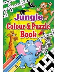 Image of 24 x Jungle A6 Colour & Puzzle Books