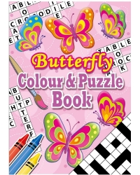 Image of 24 x Butterfly A6 Colour & Puzzle Books