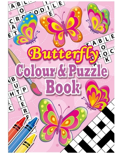 24 x Butterfly A6 Colour & Puzzle Books
