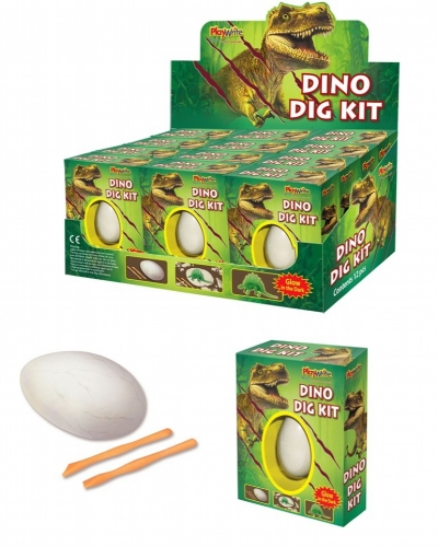 12 x Dinosaur Fossil Egg Dig Out Kits