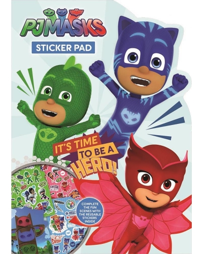 12 x PJ Masks Shaped Reusable Sticker Pads