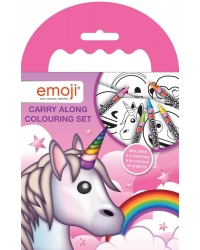 Image of 12 x Emoji Unicorn Carry Along Colouring Sets