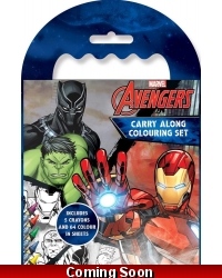 Image of 12 x Marvel Avengers Carry Along Colouring Sets