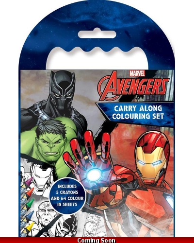 12 x Marvel Avengers Carry Along Colouring Sets
