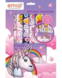 12 x Emoji Unicorn Sticker Paradise Sets
