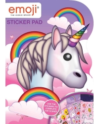 Image of 12 x Emoji Unicorn Shaped Reusable Sticker Pads