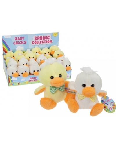 12 x Plush Easter Chicks 4""