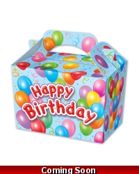 Image of 50 x Boys Happy Birthday Party Food Boxes