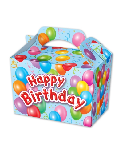 50 x Boys Happy Birthday Party Food Boxes