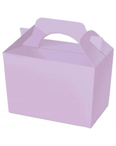 50 x Lilac Party Food Boxes