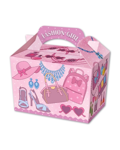 50 x Fashion Girl Party Food Boxes