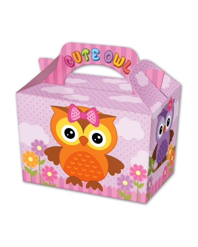 50 x Cute Owl Party Food Boxes