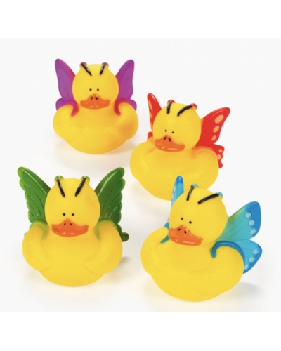 12 x Butterfly Rubber Ducks
