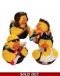 Image of 12 x Rock & Roll Rubber Ducks