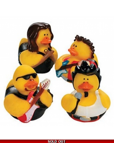 12 x Rock & Roll Rubber Ducks
