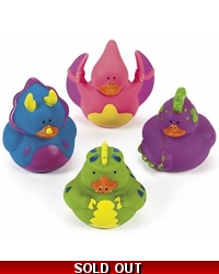 Image of 12 x Dinosaur Rubber Ducks