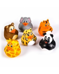 Image of 12 x Jungle Animal Rubber Ducks