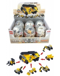 Image of 6 x Construction Capsule Building Brick Sets