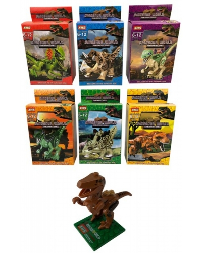 12 x Dinosaur Building Brick Kits