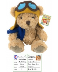 Image of 6 X Plush Pilot Bertie Bear 20cm