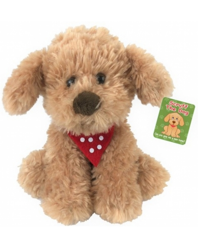 6 X Plush Scruff The Dog 20cm