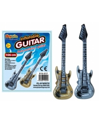 12 x Inflatable Rock & Roll Guitars