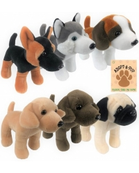 Image of 6 X Plush Standing Dogs 24cm