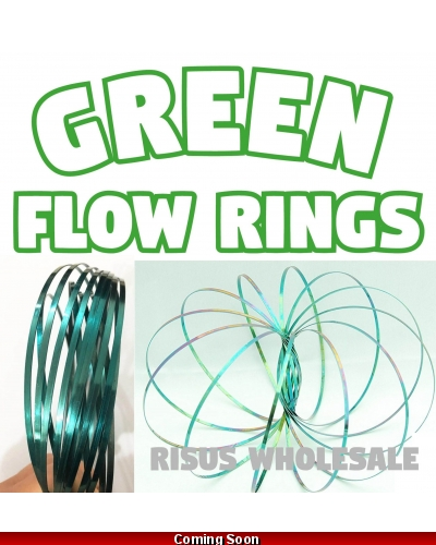 10 x Green Flow Rings Magic Kinetic Toy