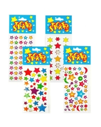 Image of 72 x Star Sticker Sheets