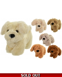 Image of 12 x Plush Standing Puppy Dogs 22cm