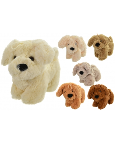 12 x Plush Standing Puppy Dogs 22cm