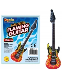 12 x Inflatable Flaming Guitars