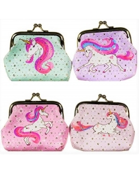 Image of 48 x Unicorn Clasp Coin Purses