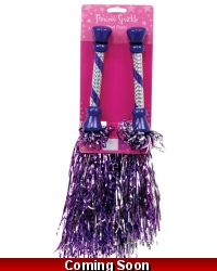 Image of 12 x Princess Sparkle Pom Poms