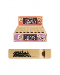 Image of 48 x Mini Wooden Train Whistles