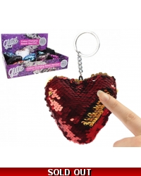 Image of 12 x Colour Change Sequin Key Rings