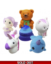 Image of 6 x Assorted Squishy Toys